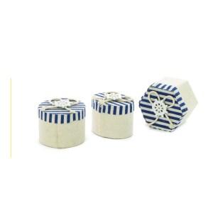 sacchetto portaconfetti bomboniera scatoline mare righe blu