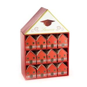 torta bomboniere laurea rossa casette portaconfetti