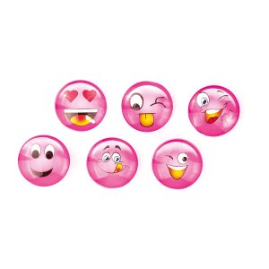 bomboniera magnete emoticon smile rosa