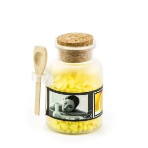 candele barattolini cera gialla - Denaro distribuzione