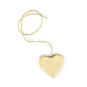 Applicazione cuore legno color naturale grande
