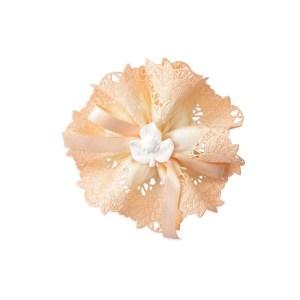 nastro portaconfetti gardenia organza sfumato cipria