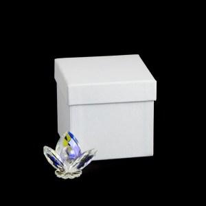 bomboniera cristallo fiore 3 petali