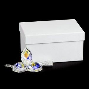 bomboniera fiore 3 petali cristallo scatola