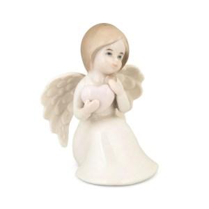 Bomboniera angelo porcellana seduto