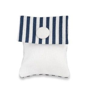 Busta portaconfetti righe blu bianche