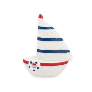 Bomboniera barca righe blu rosse