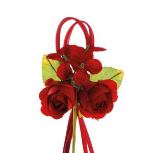 fiore confezione bomboniere boccioli rossi