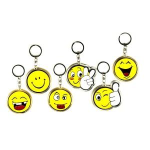 bomboniere portachiavi gialli smile soggetti assortiti