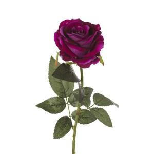 Fiore sintetico rosa singola viola