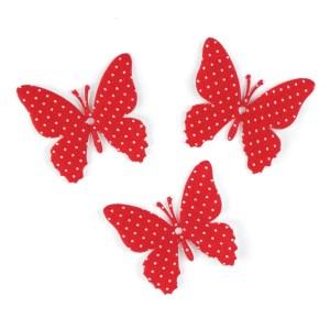 decorazione bomboniera laurea farfalla rossa pois