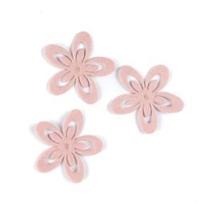 applicazione fiore rosa in stoffa