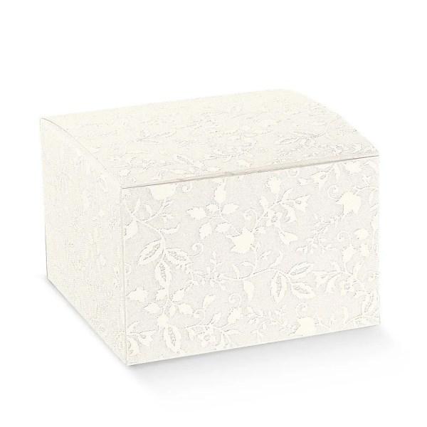 Scatola bomboniere pieghevole harmony bianco cm 12 x 12 x 12