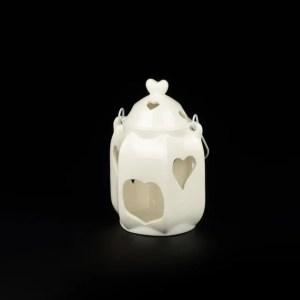 Lanterna in ceramica H 19 cm-0