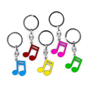 Bomboniera musica portachiavi croma colori assortiti (10 pz)-0