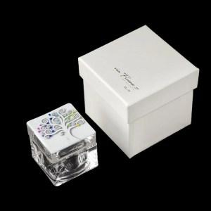 Scatolina Albero Della Vita Bianco Con Cuori Colorati E Box-0