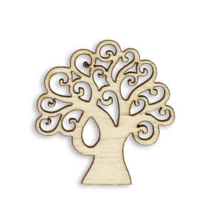 Applicazione in legno Albero Della Vita Cm.4 (12 Pz)-0