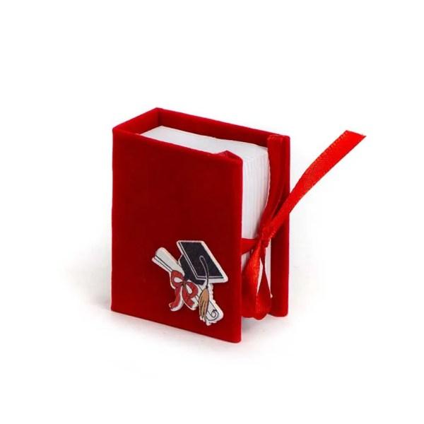 Scatoletta Portaconfetti Book Laurea Rosso (6 PZ)-0