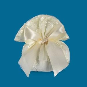 Sacchetto Portaconfetti Gabry in tulle ricamato doppia piega piccolo (10Pz)-0