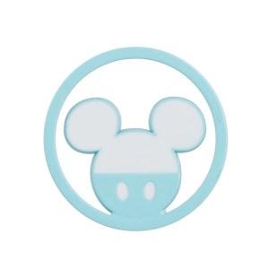 Applicazione Bomboniera Tondo Mickey Azzurro (12Pz).-0