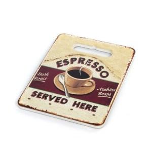 """Bomboniera tagliere decorato """"Espresso"""" medio-0"""