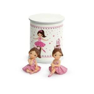 Bomboniera ballerine rosa piccole con scatola in set da 2 (8 pz)-0