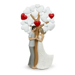 Bomboniera albero della vita maxi con cuori e innamorati-0