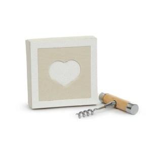 Bomboniera tiratappi con manico in legno con scatola-0