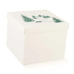 Scatola Pasticceria Chalet Bianco cm 30 X 30 X 24 (2 PZ)-0