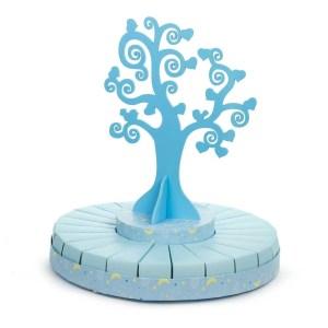 Torta bomboniere albero della vita celeste grande (24 fette + albero)-0