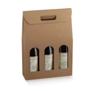 Astuccio Portabottiglia 3 Bottiglie Avana (5 PZ)-0