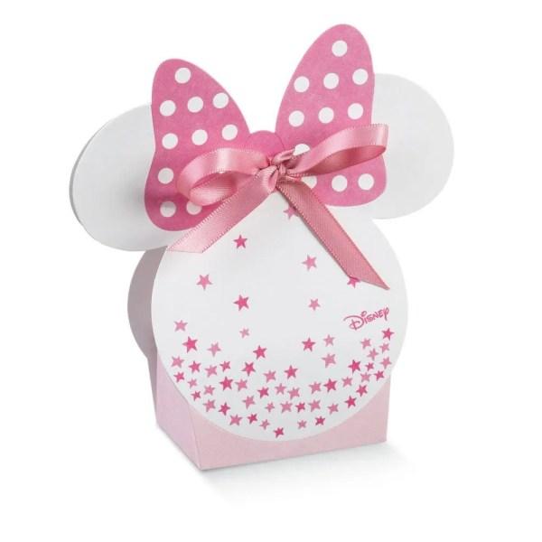 Scatola Portaconfetti Minnie Stars Rosa 5,5 X 4 X 10,5 cm (10 PZ)-0