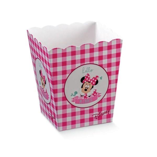 Scatola Vaso Minnie Party Fucsia 7 X 7 X 11 cm (10 PZ)-0