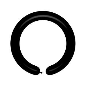 Palloncino Modellabile nero Pastello 153 cm. (100 Pezzi)-0