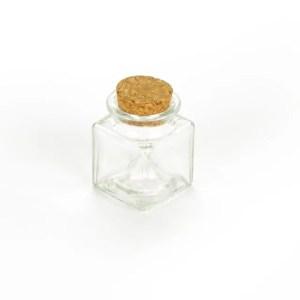 Barattolino portaconfetti in vetro con tappo in sughero h 6 cm (12 PEZZI)-0