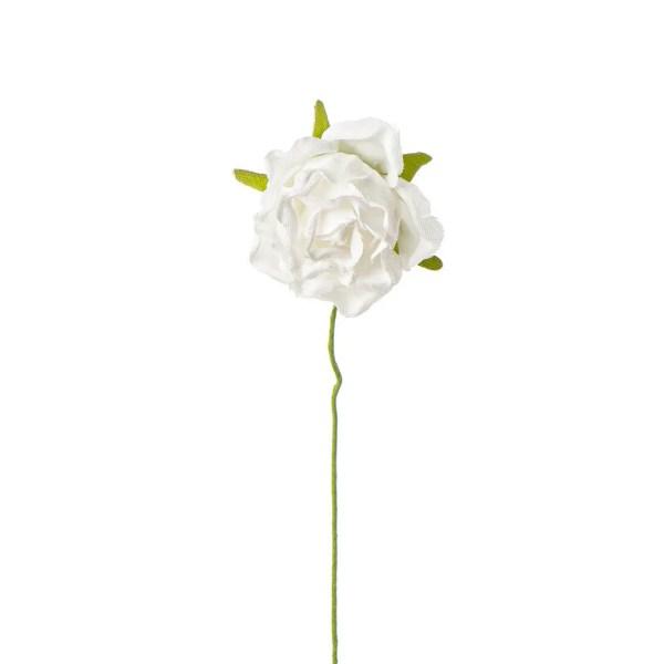 Fiore bomboniera rosellina bianco