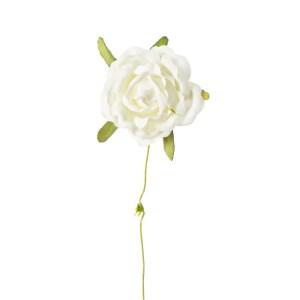 Applicazione bomboniera rosellina panna