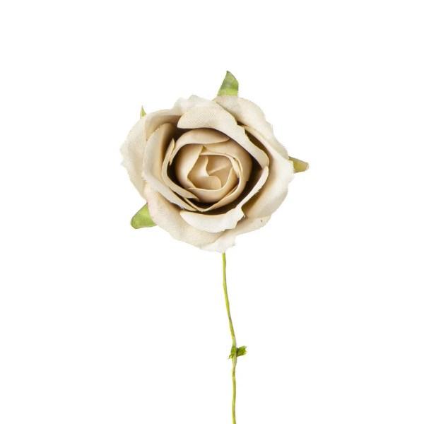 Fiore decorativo rosa media beige
