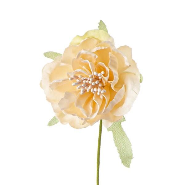 Decorazione bomboniera fiore con pistillo cipria