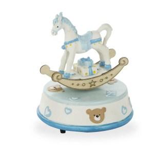 Carrillon cavallo a dondolo celeste-0
