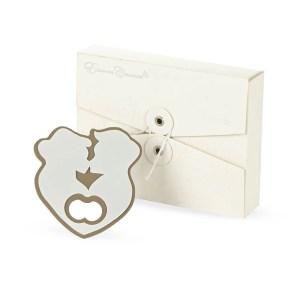 Bomboniera matrimonio apribottiglia coppia cuore con scatola-0