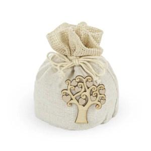 Portaconfetti bomboniera con applicazione albero della vita-0