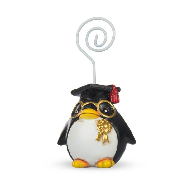 Bomboniera pinguino laureato con memoclip