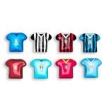 Magnete magliette calcio assortite
