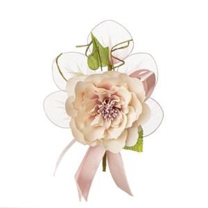 Bomboniera decoro fiore ortensia grande rosa antico