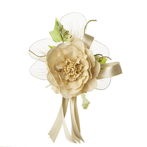 Bomboniera fiore ortensia grande beige