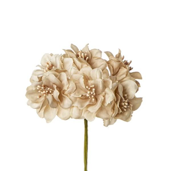 Fiore bomboniera con pistilli beige