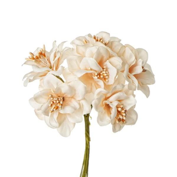 Bomboniera fiore con pistilli cipria
