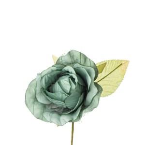 Applicazione fiore bocciolo verde petrolio