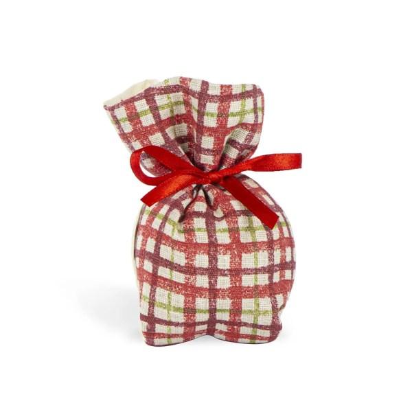 Sacchetto italiano a quadretti piccolo senza nastro colore rosso